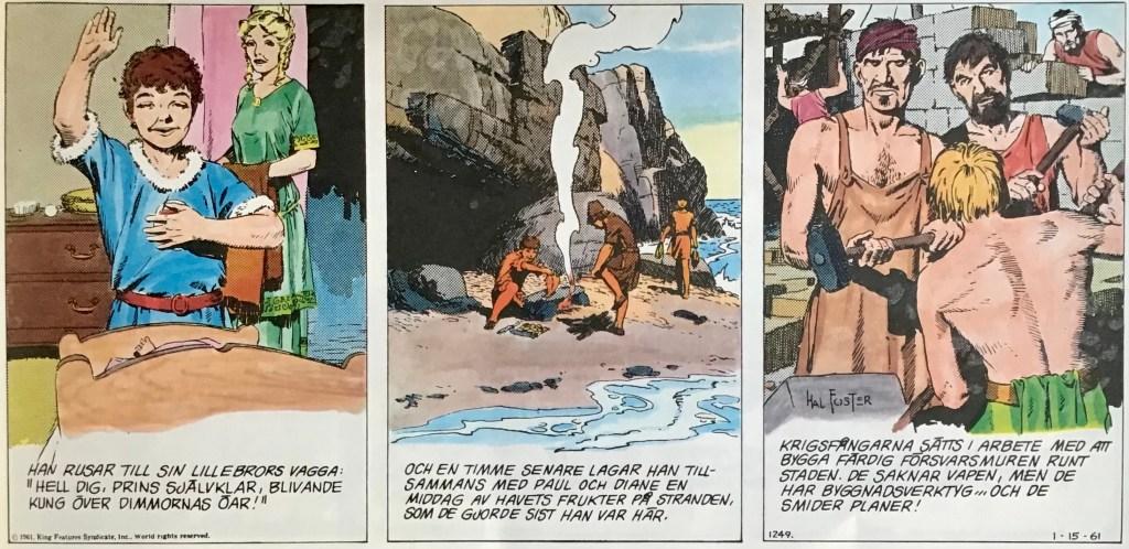 Några serierutor ur sida #1249 från 15 januari 1961. ©Bulls