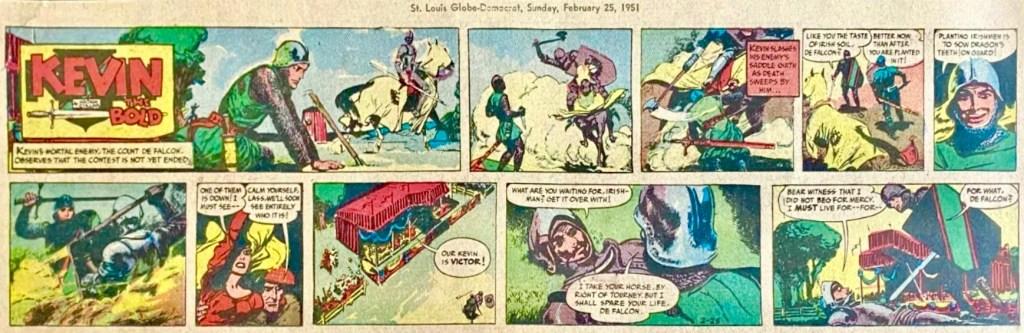 Söndagsserien i original (kvartalssida) från 25 februari 1951. ©NEA