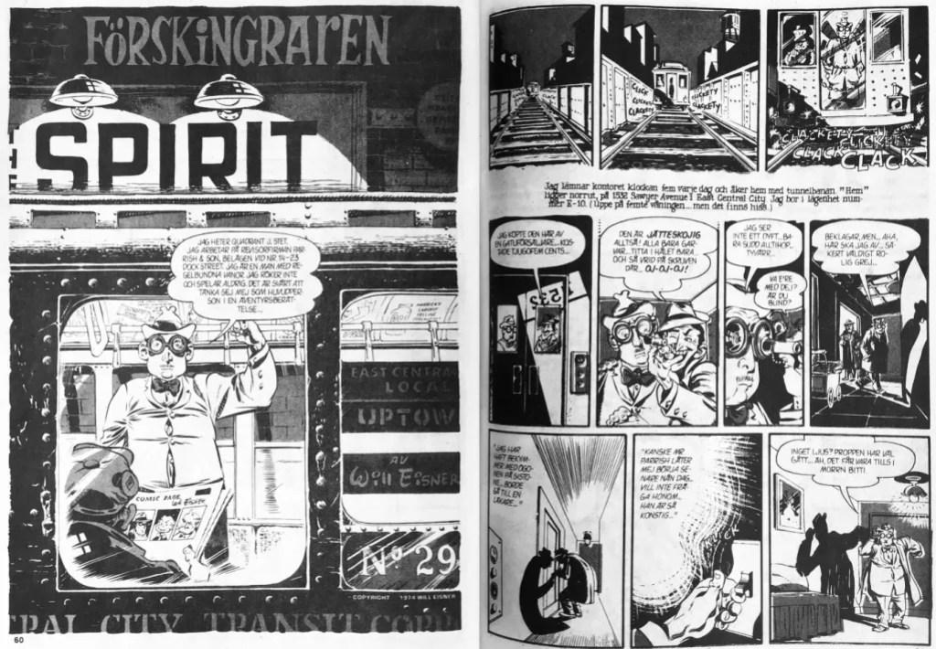 Inledande uppslag till episoden Förskingraren ur Fantomen nr 15, 1989. ©Eisner