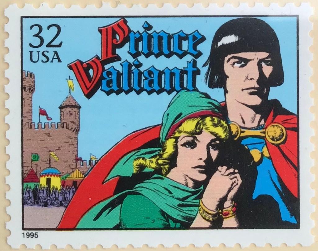 Frimärke med Prince Valiantvar utgivet av U.S. Postal Service 1995. ©USPS
