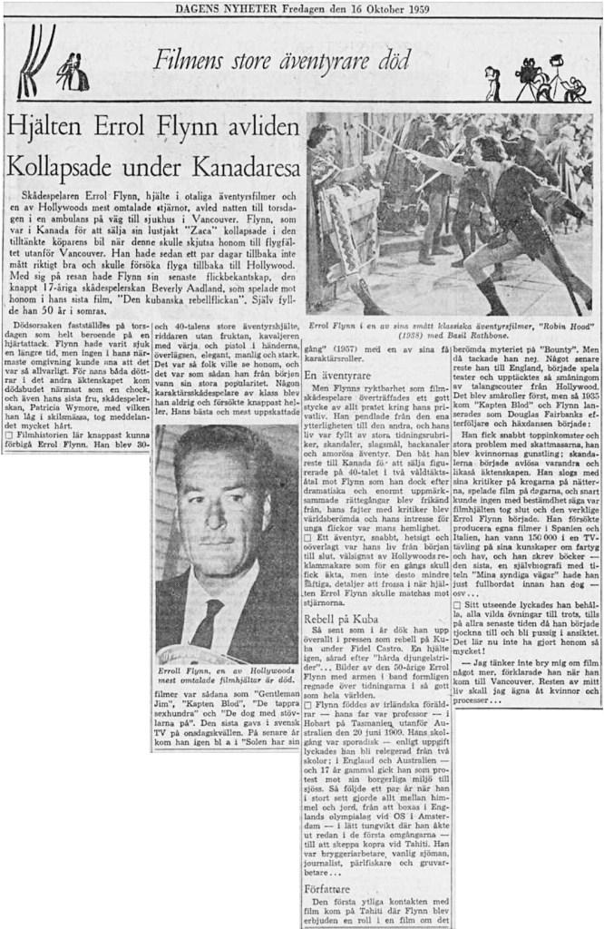 Nyhetsartikel den 16 oktober 1959. ©DN