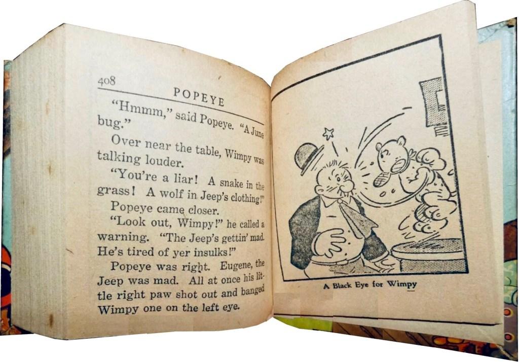 Ett uppslag ur Popeye and the Jeep (1937). ©Whitman