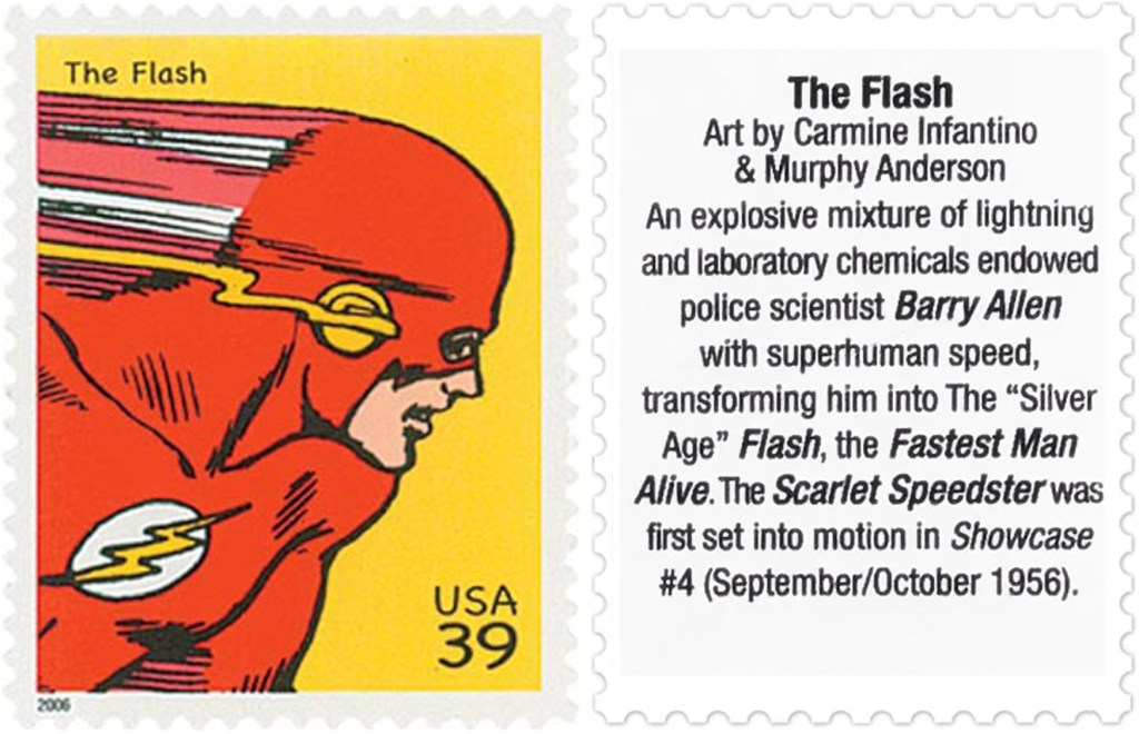 Frimärket med The Flash (2006). ©USPS/DC