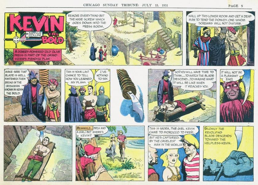 Söndagsserien i original från 15 juli 1951. ©NEA