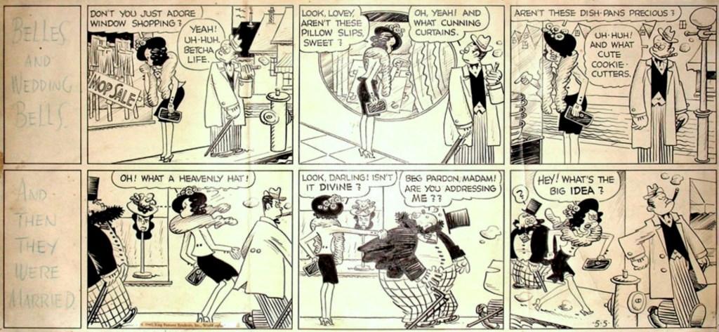 Original till söndagsstripp från 5 maj 1940. ©KFS