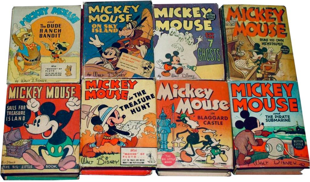 Det utkom närmare femtio titlar med Mickey Mouse som BLB. ©Whitman/Disney