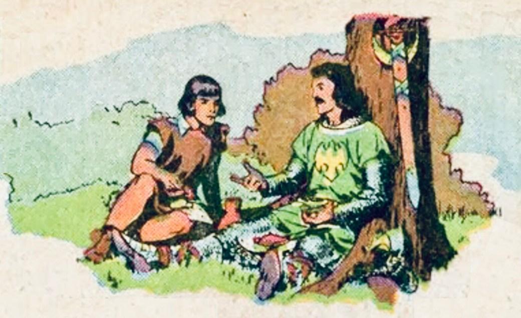 Den tredje bilden betonar hur viktigt mötet med Sir Gawain var för prins Valiant i hans liv. ©KFS