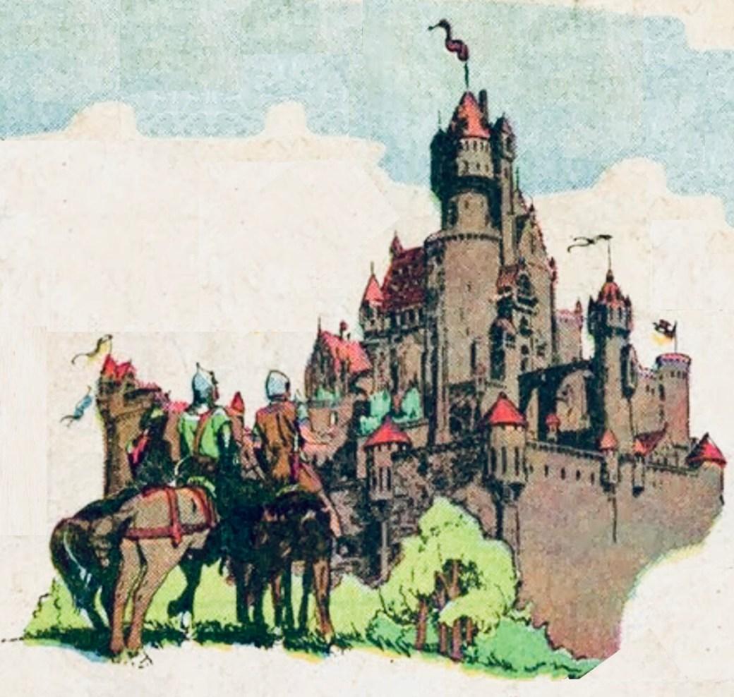 Valiant kom att få en viktig roll som riddare av det runda bordet, som utgår från slottet Camelot, vilket även söndagssida #2000 noterade. ©KFS