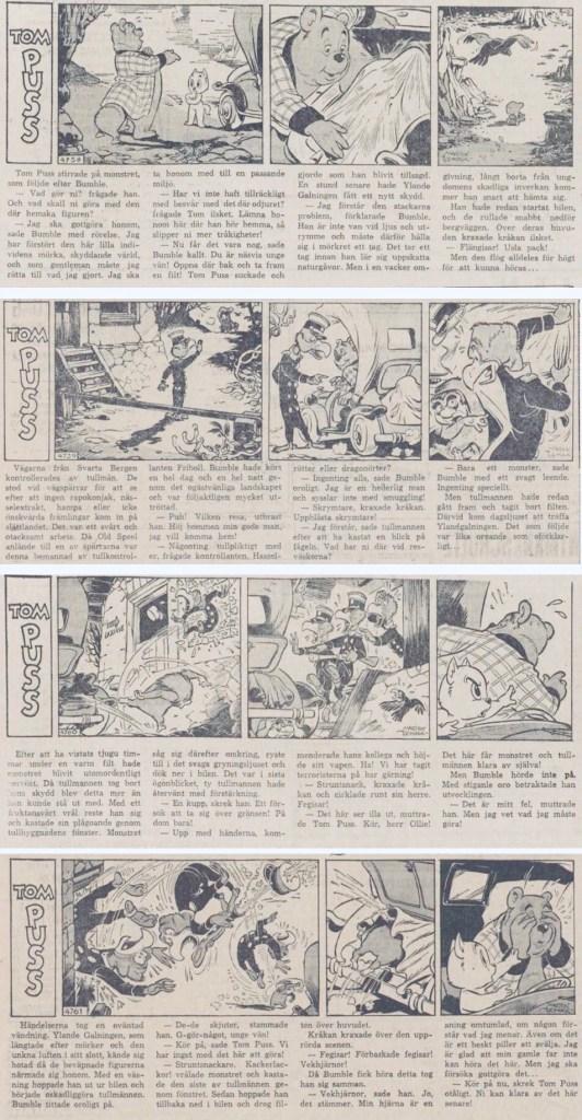 Stripparna #4758-4761, ur DN 18-21 juni 1963. ©Toonder