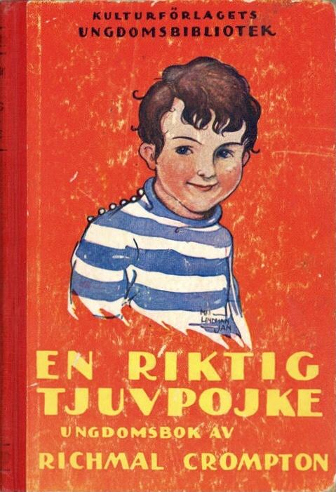 Omslag till En riktig tjuvpojke från Kulturförlagets ungdomsbibliotek (4:e uppl. 1930).