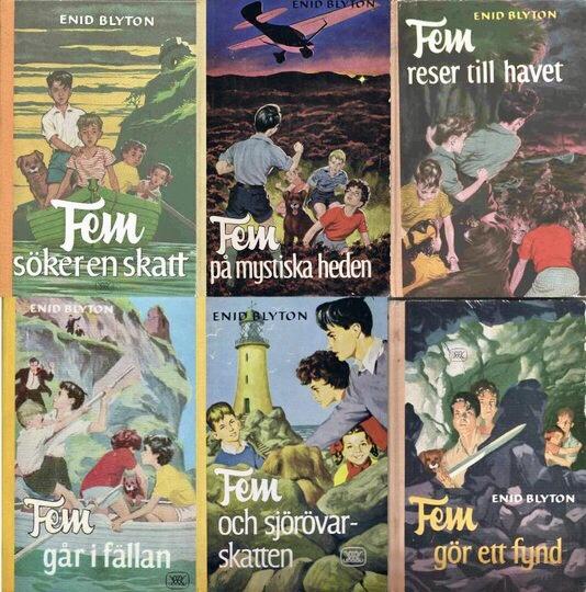 Fem-böckerna fick stora framgångar på svenska.