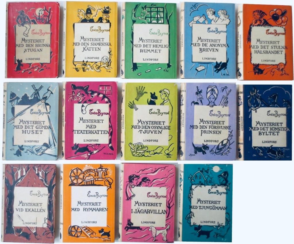 Det utkom femton olika Mysteriet-böcker. ©Lindfors