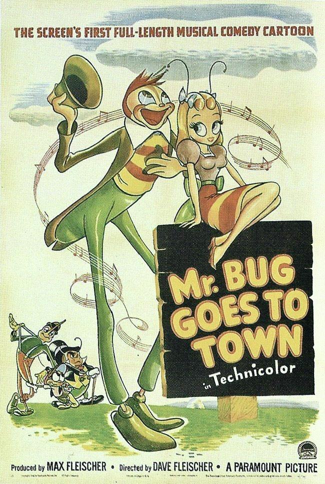 Filmaffisch till den animerade långfilmen Mr. Bug Goes to Town. ©Paramount