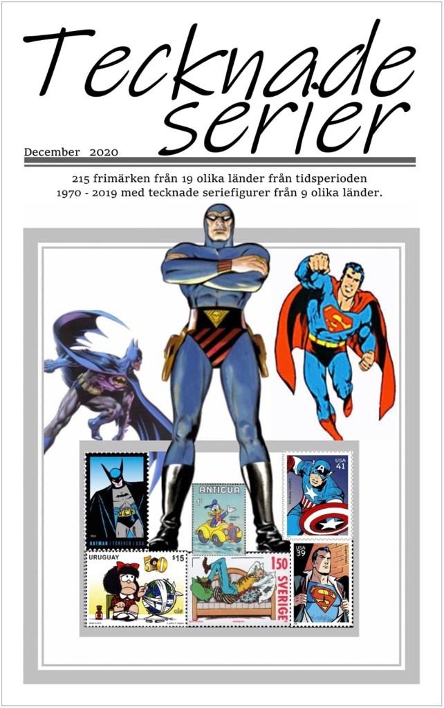 Tecknade serier på frimärken. En 20-sidig sammanställning. ©Harnby