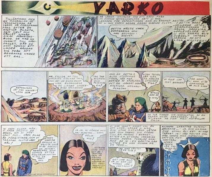 Serien Yarko ur Veckans serier nr 9, 1942. ©Bulls