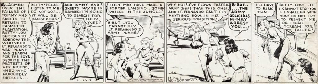 Original till motsvarande dagsstripp från 23 juni 1941. ©United Feature