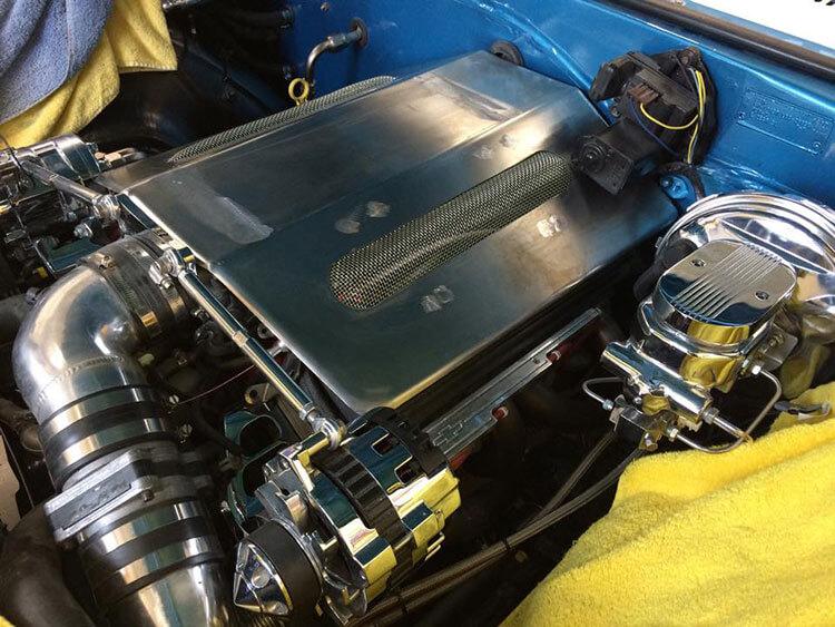 67 Chevy Camaro motor panel