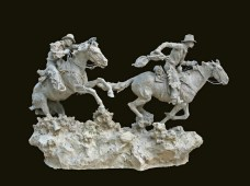 "Hashknife Pony Express (clay) 19"" High x 31"" Wide"