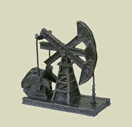 Pump Jack Commission - Bronze (4ft Tall) Not for sale