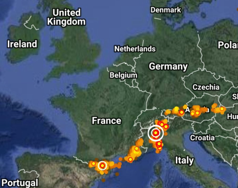 Realtime lightning map