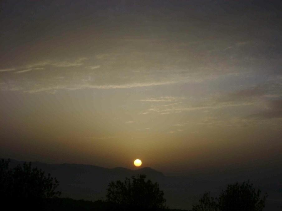 Atmospheric sunset in Cyprus
