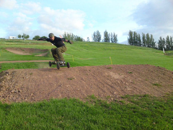 Mountainboarding at Ironsides Mountainboard Centre