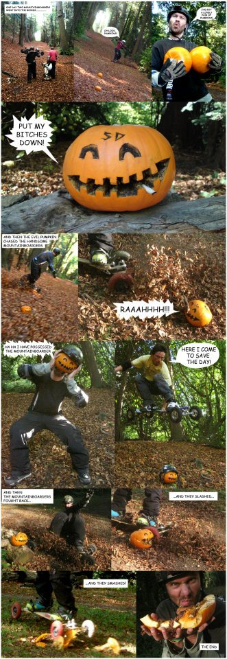 mountainboarding pumpkin