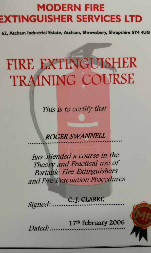 Fire Extinguisher Training Certificate