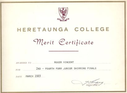 Swimming Merit 1