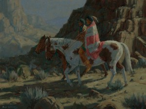 Williams-Canyon Moon-18x24 hopi southwest painting fine art nocturn