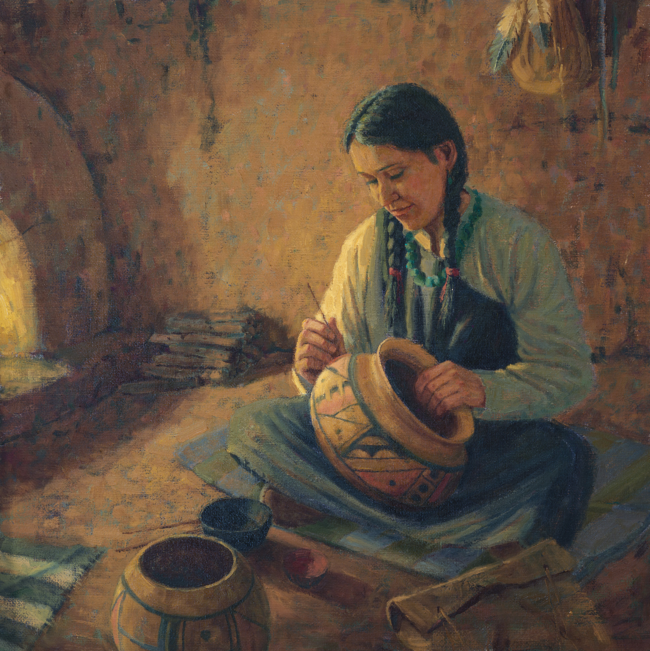 "Hopi Heritage<br />24"" X 24"" Oil on Linen"