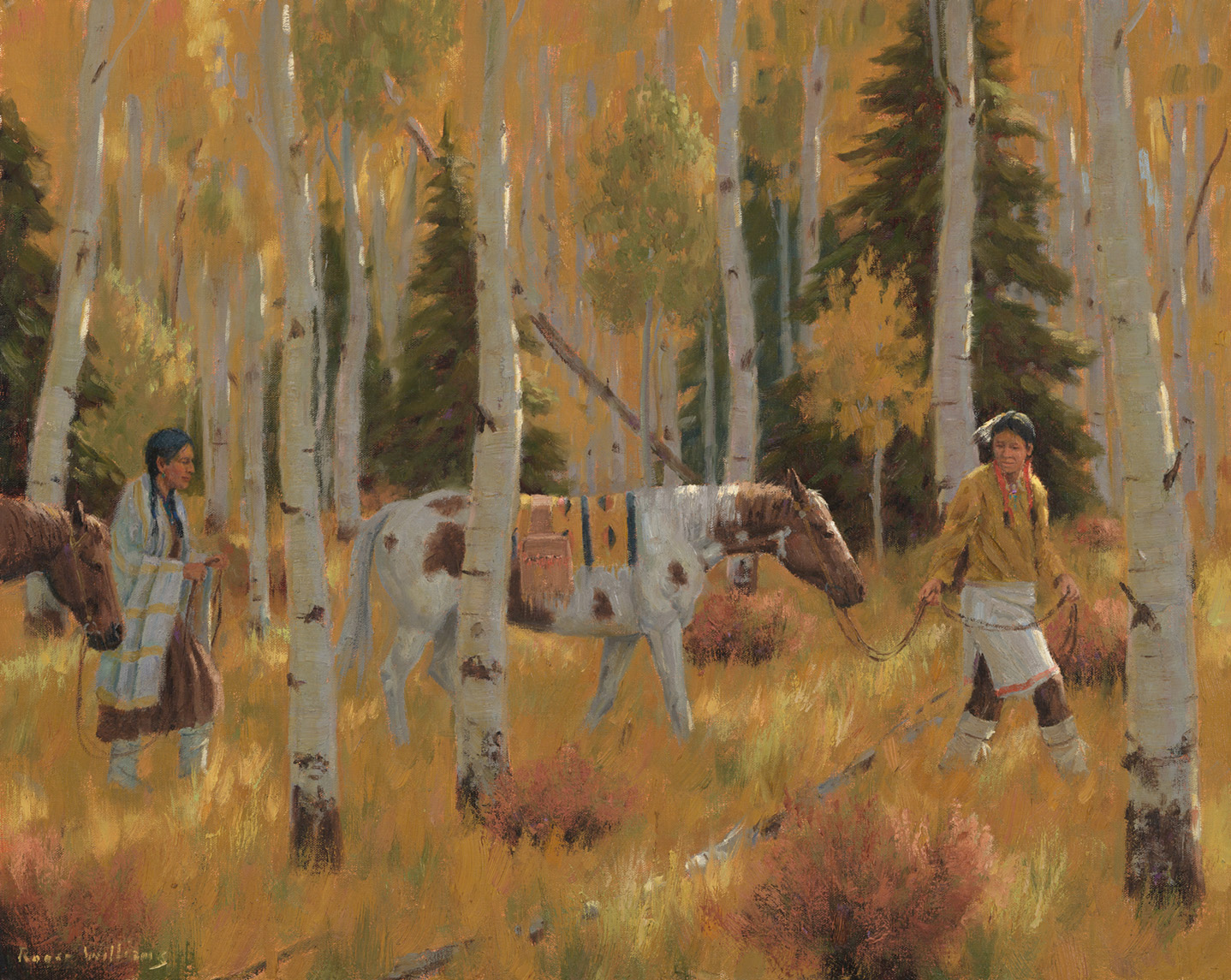 "Autumn Courtship<br /> 24"" X 30"" Oil on Linen"