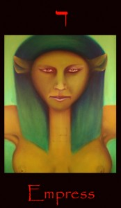 Tarot Empress major arcana tarot card by Roger Williamson