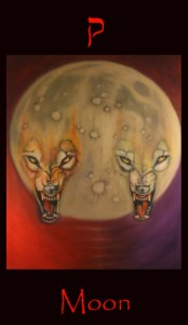 Moon, major arcana, tarot