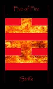 Leo tarot Strength. Five of Fire meaning Strife. Tarot of the Morning Star depicts Minor Arcana Tarot cards as binary code.