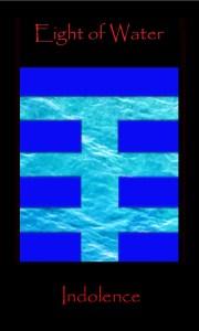 Tarot Eight Water, Eight Cups, tarot card Moon, Sun enters Pisces