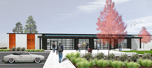 Architectural rendering of the RCC High Technology Center.