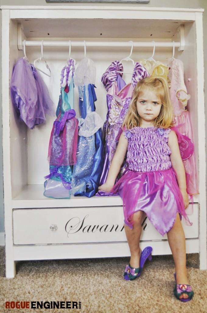 Diy Dress Up Closet From Dresser Image Of Bathroom And Closet