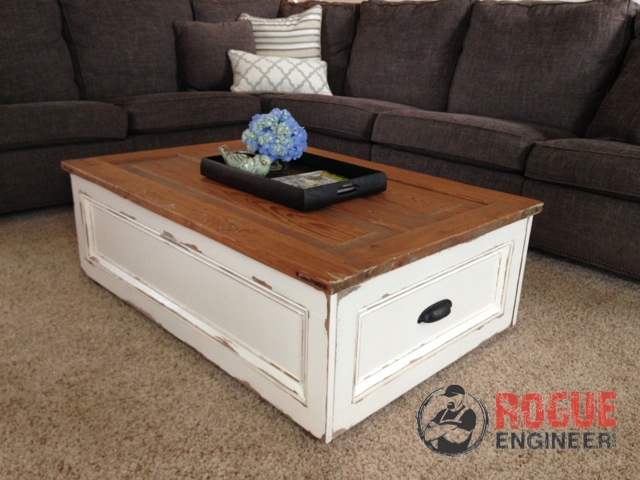 living room table with storage colours grey carpet diy coffee free plans rogue engineer