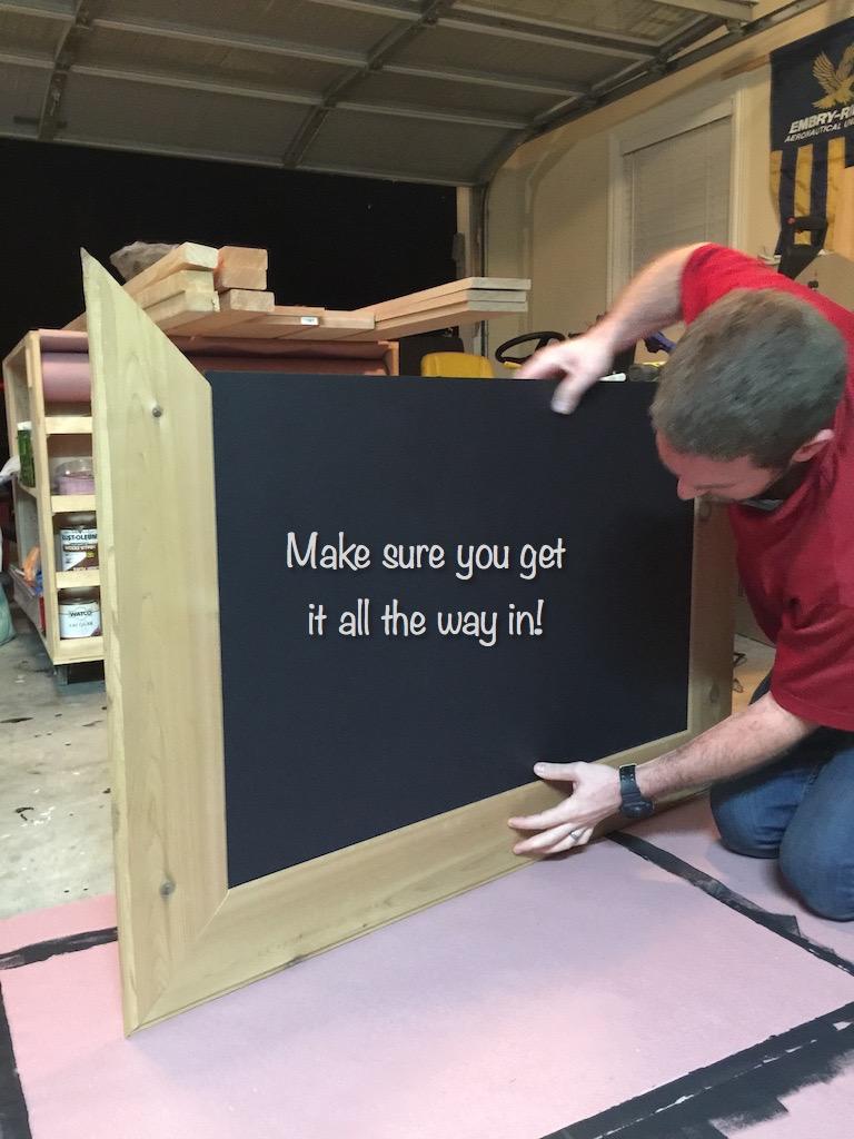 diy cedar framed magnetic