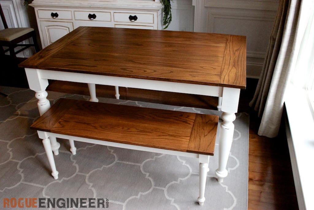 DIY Solid Oak Farmhouse Table