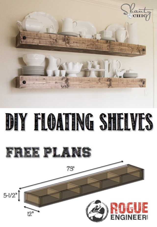 brackets for a floating shelf without buying a shelf kit