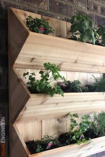 Cedar Wall Planter Free Diy Plans Rogue Engineer