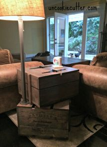 Stacked Crate End Table Free Diy Plans Rogue Engineer