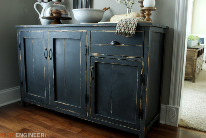 kitchen hutch plans pull out wire baskets cupboards farmhouse buffet { free diy } rogue engineer