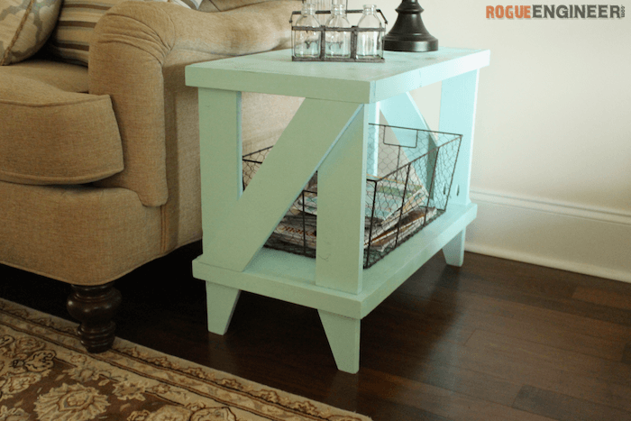 Narrow Cottage Side Table Free DIY Plans Rogue Engineer