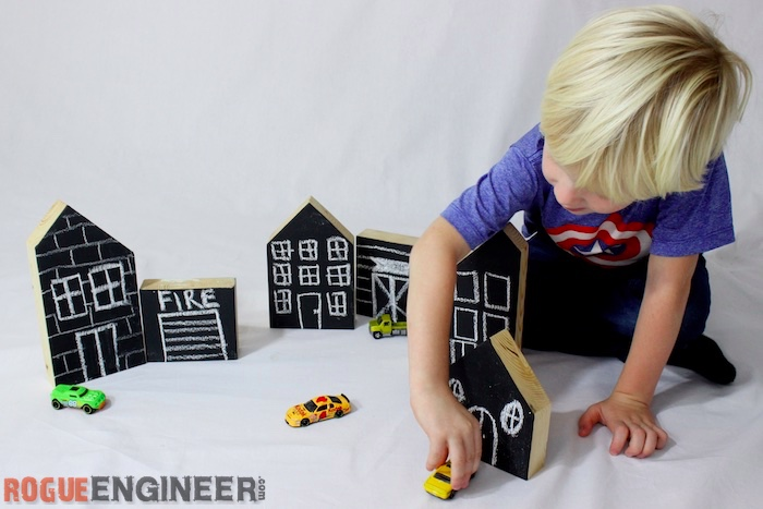 How To Make A Kids Chalkboard Town From Scrap Wood