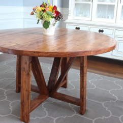 Kitchen Table Round Candles Trestle Dining Free Diy Plans Rogue Engineer