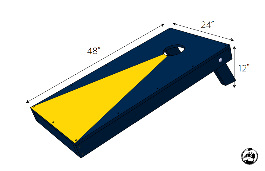 Corn Hole Board Plans Cornhole Board Dimensions