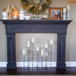 Diy Outdoor Kitchen Plans Utility Cart Faux Fireplace Mantel Surround » Rogue Engineer